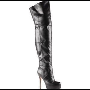 COPY - ALDO | LEATHER THIGH HIGH HEELED BOOTS